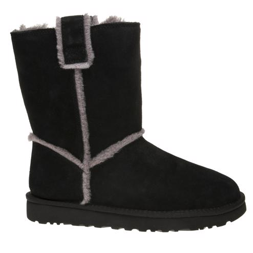 2ad23aa0c417 Cheap Womens Black Ugg® Classic Short Spill Seam Boots at Soletrader ...