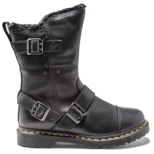 d82b2288f85d Cheap Womens Black Dr Martens Kristy Boots at Soletrader Outlet