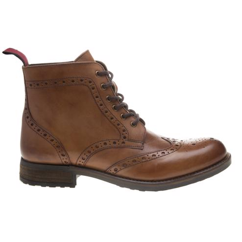 Cheap Mens Tan Sole Theo Brogue Boots